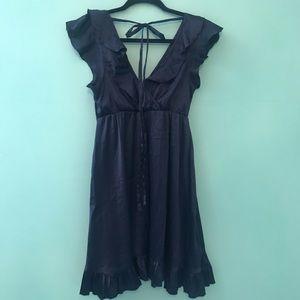 Dresses & Skirts - Pinup ruffle silk dress retro Lolita